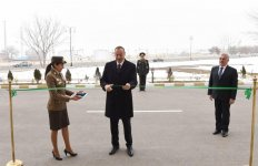 Ilham Aliyev attends opening of residential building for officers, ensigns in Nakhchivan (PHOTO) - Gallery Thumbnail