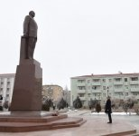 Ilham Aliyev pays tribute to national leader in Nakhchivan (PHOTO) - Gallery Thumbnail