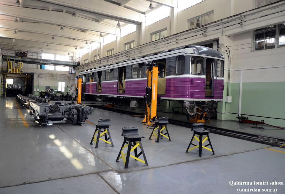 Bakı Metropolitenində 175 vaqon təmir edilərək xəttə buraxılıb (FOTO) - Gallery Image