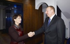Ilham Aliyev meets Swiss president in Davos (PHOTO) - Gallery Thumbnail