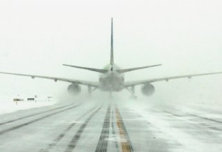 Domestic flight canceled due to severe frost in Turkey