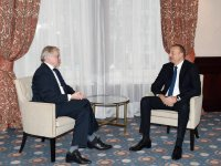 President Aliyev met with former PACE president in Brussels (PHOTO) - Gallery Thumbnail