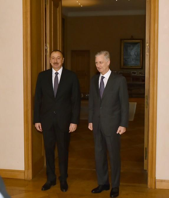 Ilham Aliyev meets King Philippe of the Belgians (PHOTO)