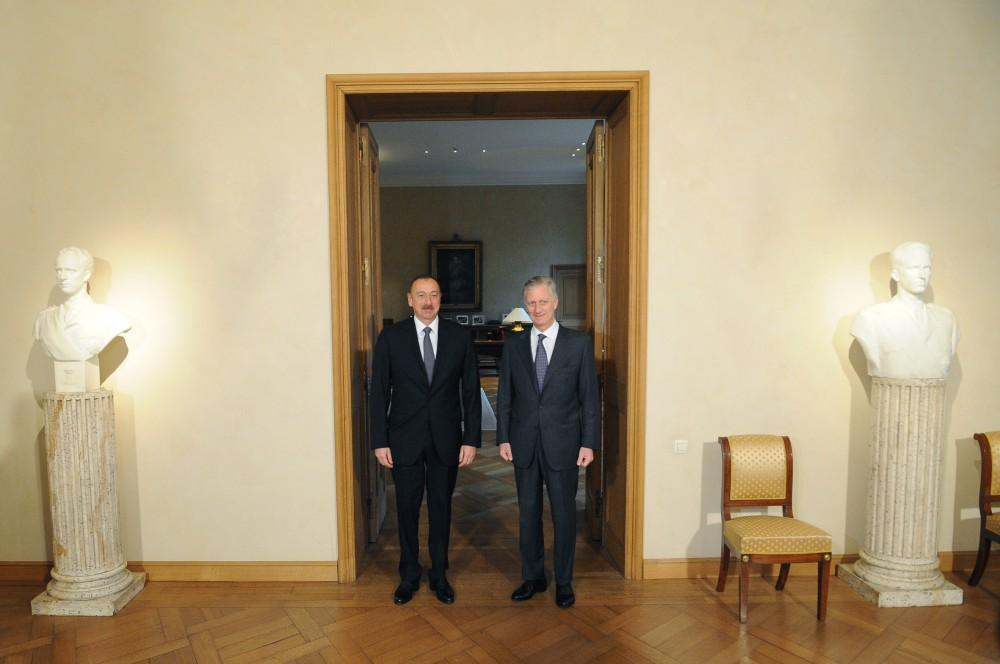 Ilham Aliyev meets King Philippe of the Belgians (PHOTO) - Gallery Image