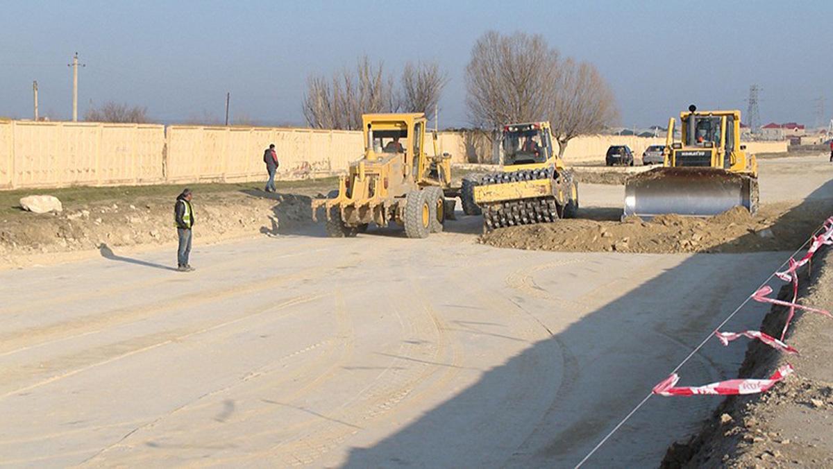 Bakı-Şamaxı yolu yenidən qurulur (VİDEO/FOTO)