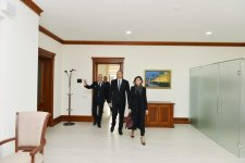 Ilham Aliyev, his spouse view conditions created at administrative building of Azerbaijan Railways CJSC (PHOTO) - Gallery Thumbnail