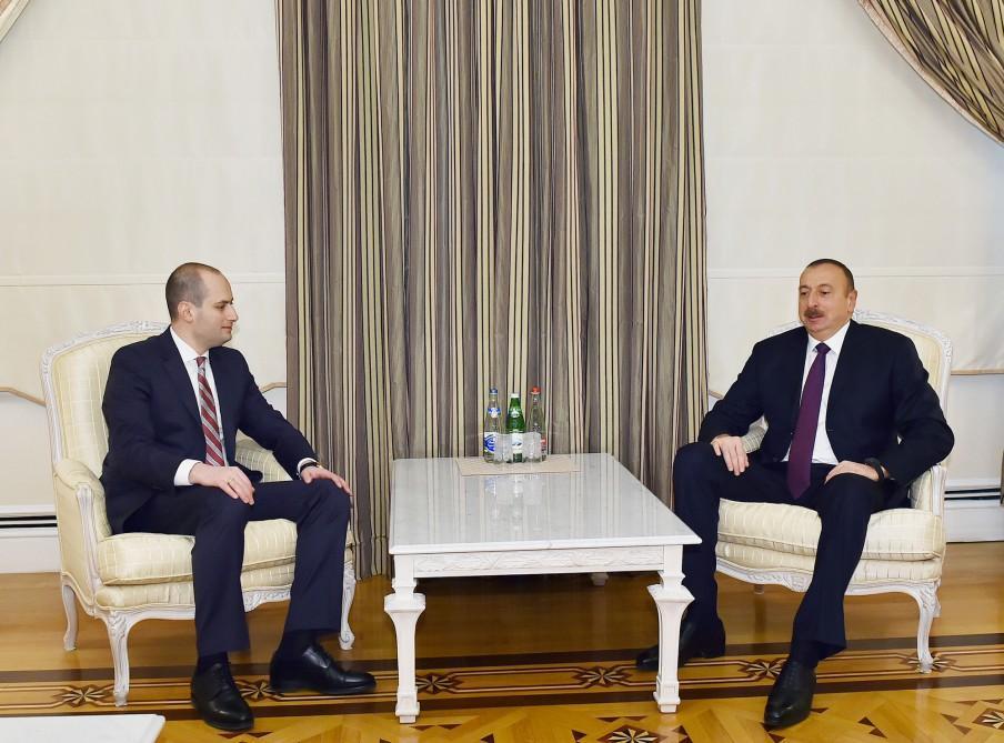 Prezident İlham Əliyev Gürcüstanın xarici işlər nazirini qəbul edib (YENİLƏNİB) (FOTO)