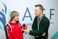 Gymnast calls for supporting Azerbaijani team at World Cup (PHOTO) - Gallery Thumbnail