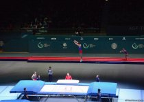 В Баку стартовал Кубок мира FIG по прыжкам на батуте и тамблингу  (ФОТО) - Gallery Thumbnail