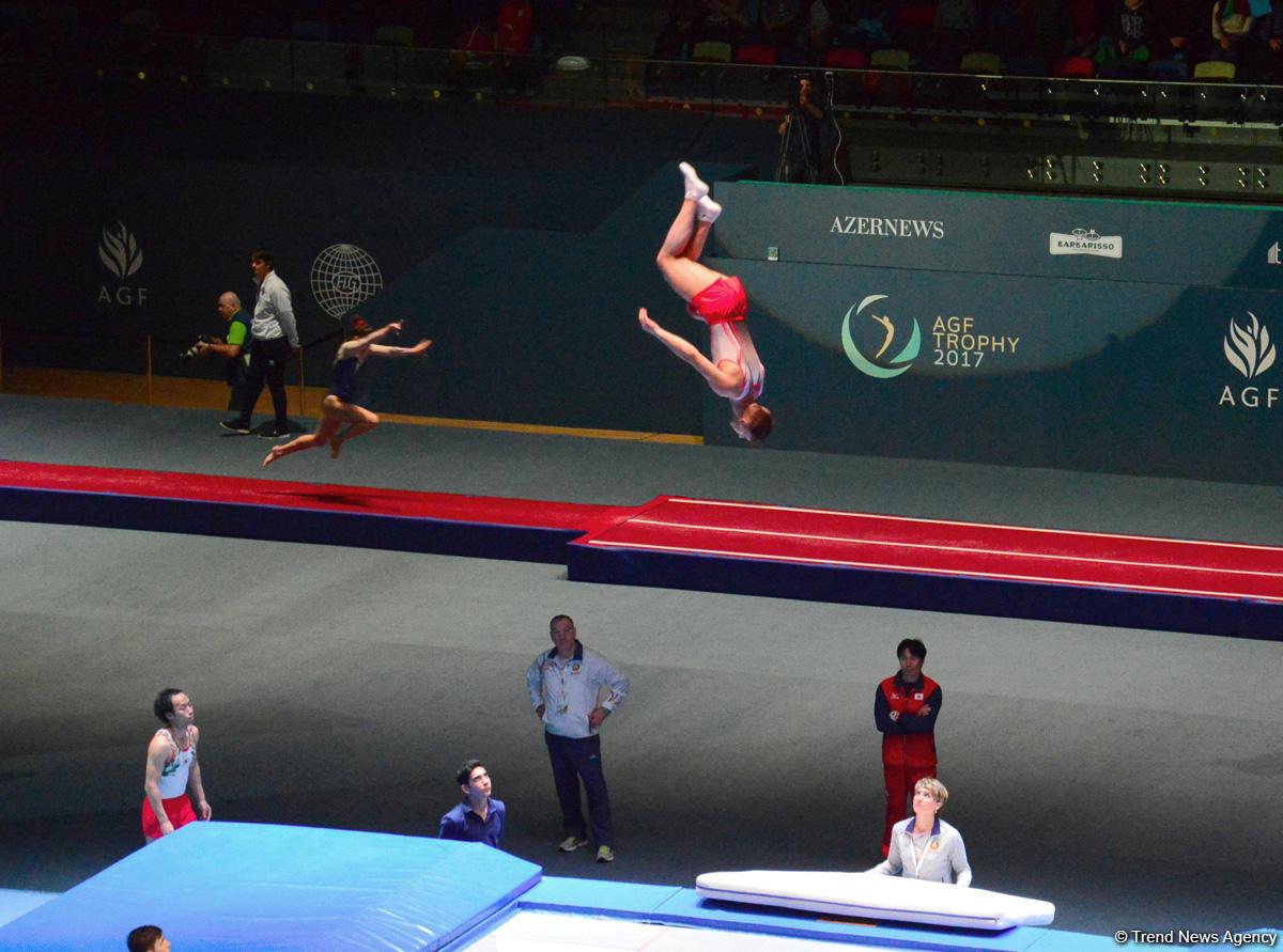 Bakıda Milli Gimnastika Arenasında batut gimnastikası və tamblinq üzrə ilk Dünya Kubokuna start verilib  (FOTO)