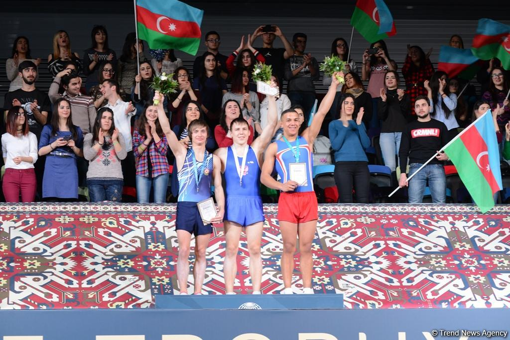 Winners of World Cup tumbling event awarded in Baku (PHOTO)