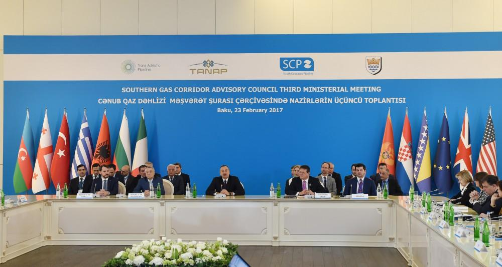 Ilham Aliyev: SGC – issue of energy security and energy security is national security of countries  (PHOTO) (UPDATE)