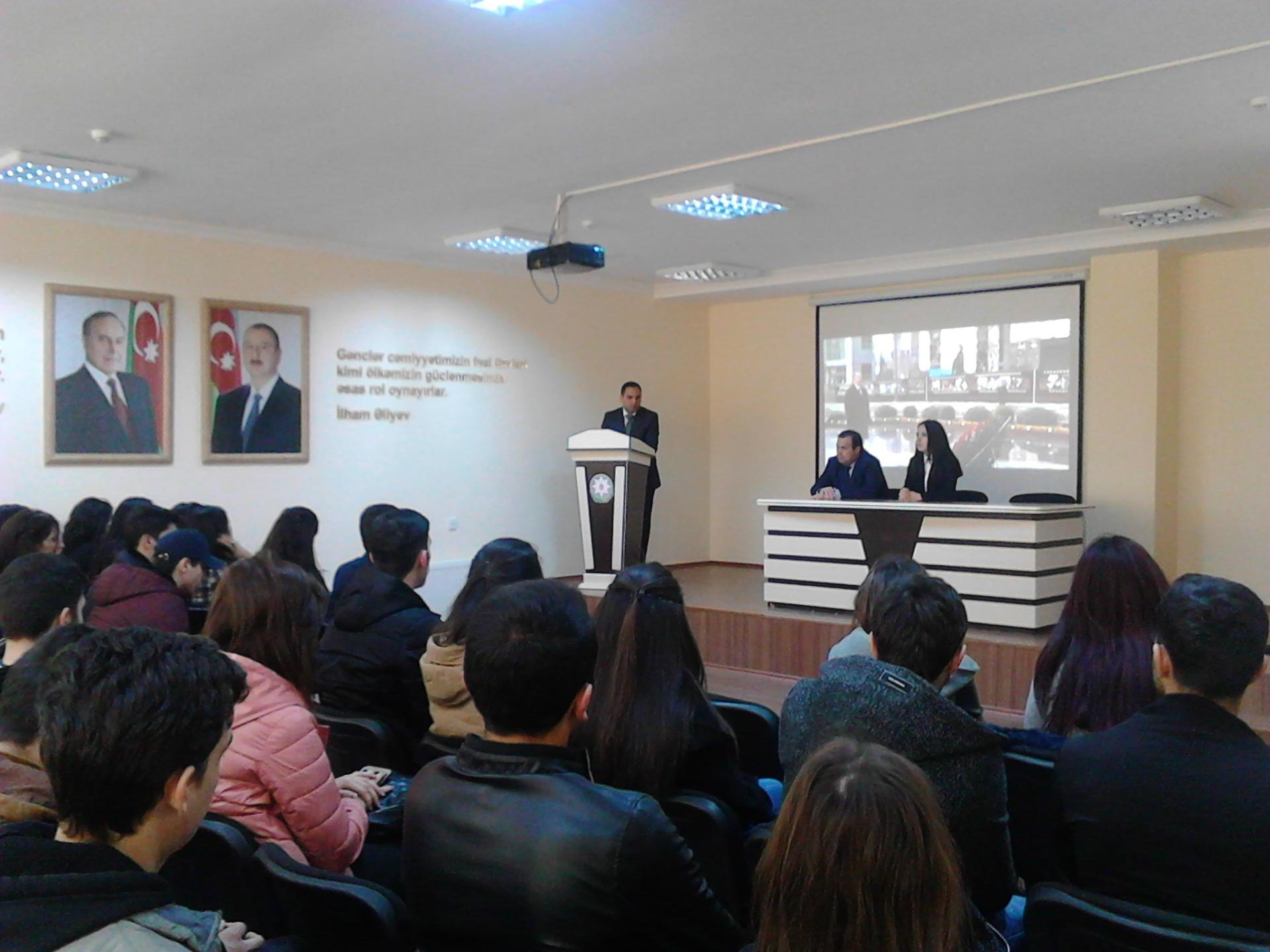 Ombudsmanın Gəncə Regional Mərkəzi Xocalı soyqırımı ilə bağlı tədbir keçirib