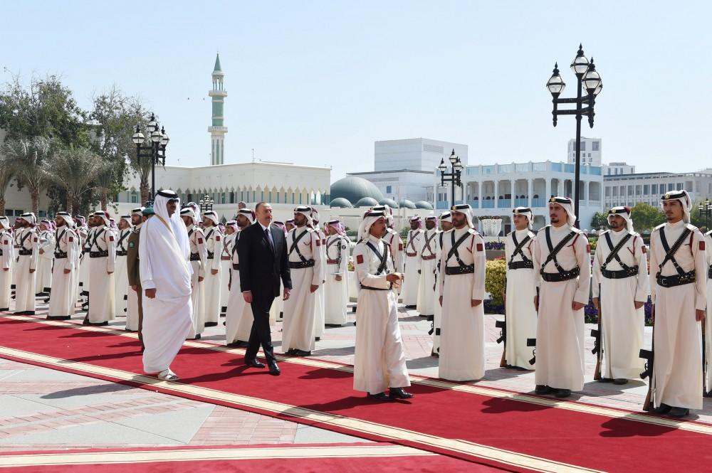Official welcome ceremony held for Ilham Aliyev in Qatar (PHOTO) - Gallery Image