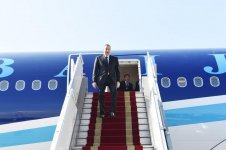 Ilham Aliyev arrives in Iran on official visit (PHOTO) - Gallery Thumbnail