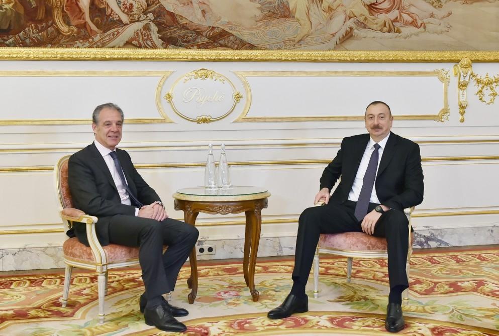 Ilham Aliyev meets CIFAL Group CEO in France (PHOTO)