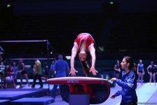 Bakıda idman gimnastikası üzrə Dünya Kuboku iştirakçılarının podium məşqləri başlayıb (FOTO) - Gallery Thumbnail