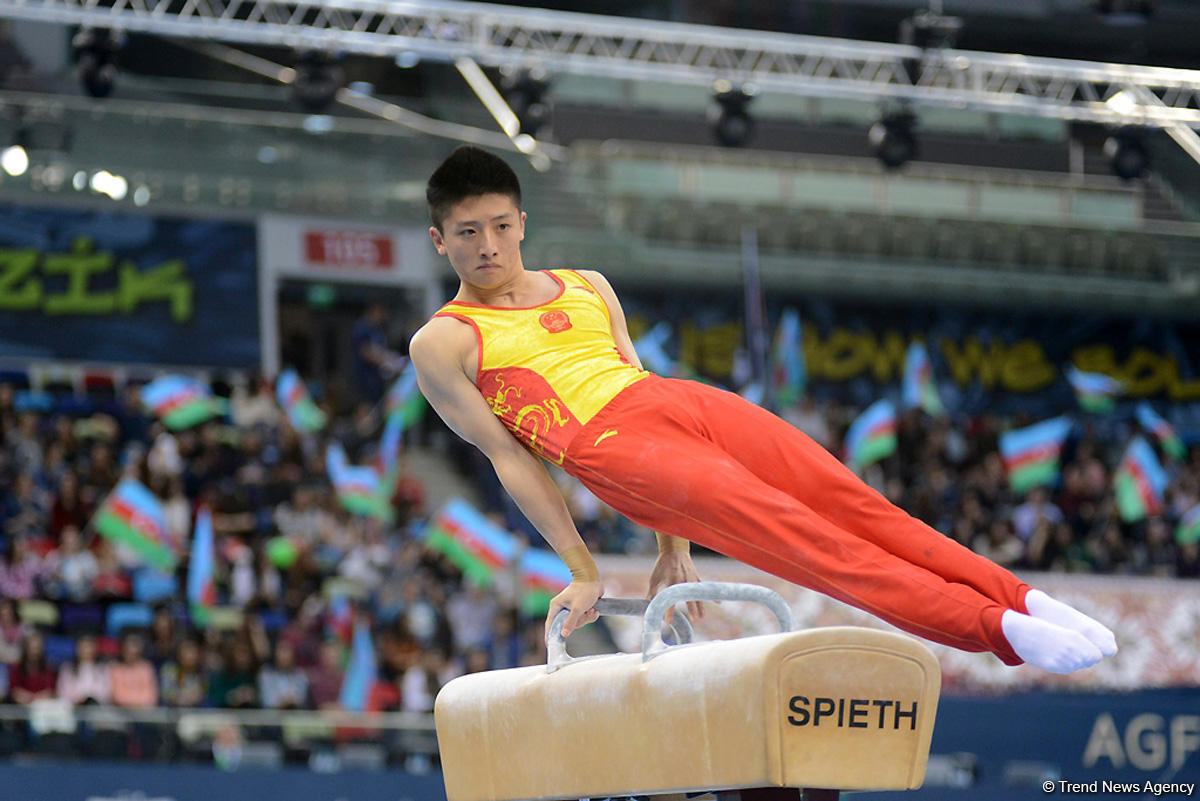 Chinese gymnast wins gold at FIG World Cup in Baku