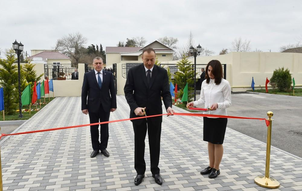 Ilham Aliyev opens orphanage-kindergarten in Saatli (PHOTO)