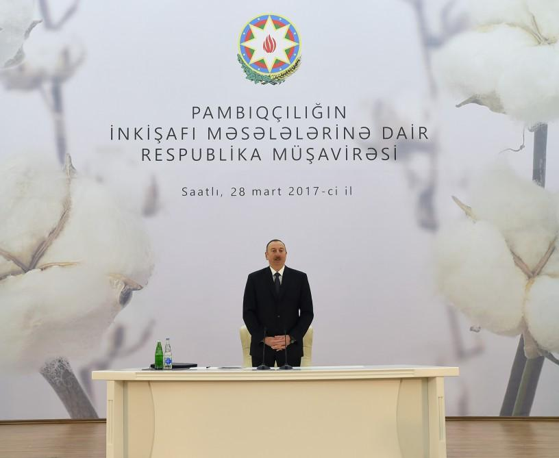 Ilham Aliyev: Today we show example of how to govern a country