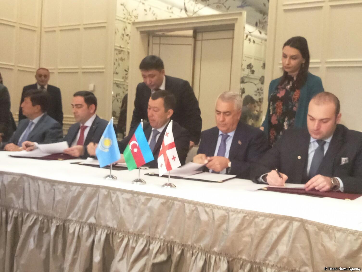 Azerbaijan, Kazakhstan, Georgia ink protocol on Trans-Caspian transport route (PHOTO) - Gallery Image