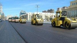 До конца неделе завершится ремонт на одной из центральных улиц Баку (ФОТО/ВИДЕО) - Gallery Thumbnail