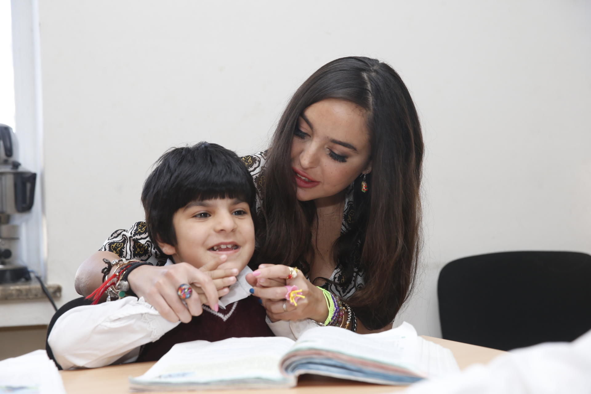 Heydar Aliyev Foundation VP visits special boarding schools for physically disabled children (PHOTO)