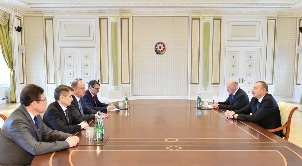Ilham Aliyev meets Russian Security Council's secretary (PHOTO) - Gallery Image