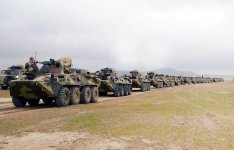 Azerbaijani troops continue drills (PHOTO,VIDEO) - Gallery Thumbnail