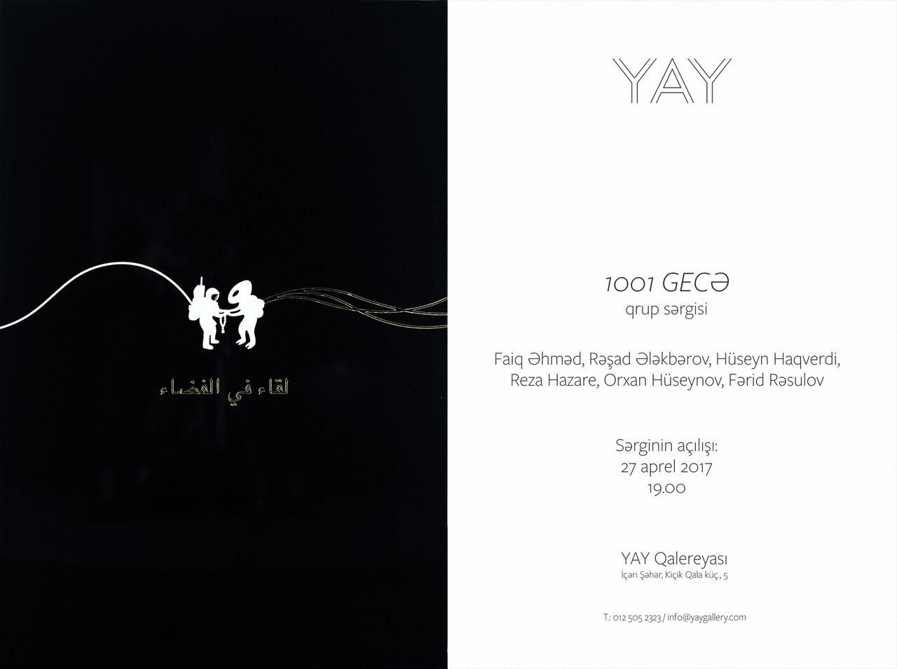 """1001 Nights"" exhibition opens in YAY Gallery"