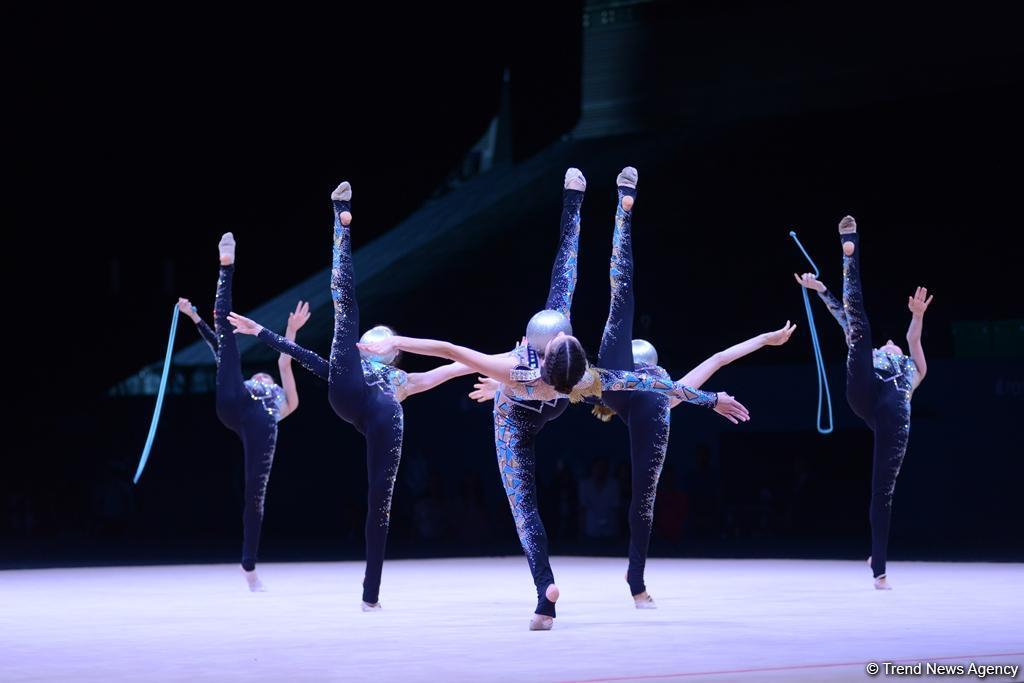 Лучшие моменты второго дня соревнований Кубка мира по художественной гимнастике (ФОТО) - Gallery Image