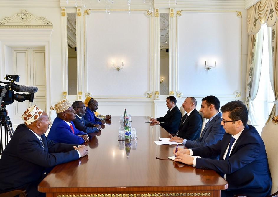 Ilham Aliyev meets delegation led by Djibouti's National Assembly president (PHOTO)