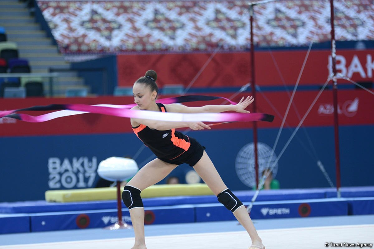 Baku 2017: Rhythmic gymnastics podium training kicks off (PHOTOS)