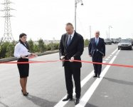 President Aliyev, his spouse attend opening of reconstructed street in Pirallahi (PHOTO) - Gallery Thumbnail