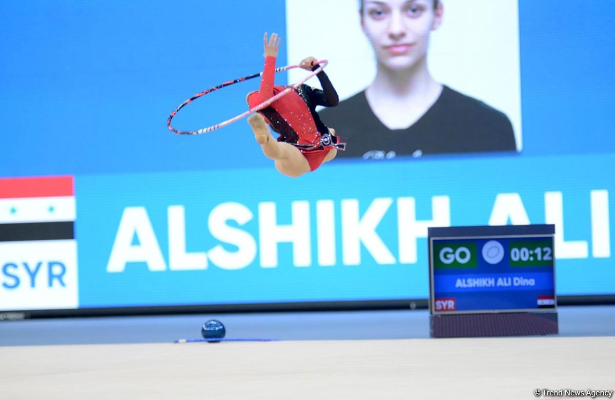 İslamiada çərçivəsində bədii gimnastika üzrə yarışlara start verildi (FOTO) - Gallery Image
