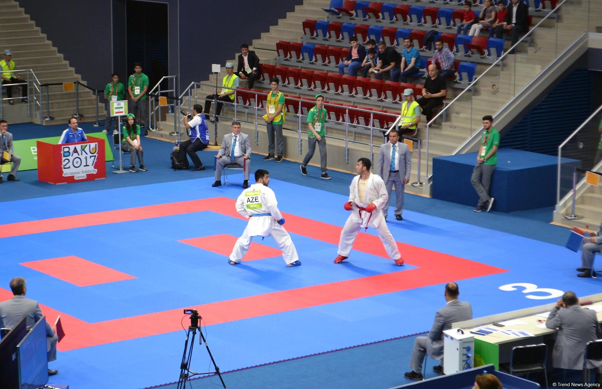 IV İslam Həmrəyliyi Oyunları çərçivəsində karate üzrə yarışlar keçirilir (FOTOREPORTAJ) - Gallery Image