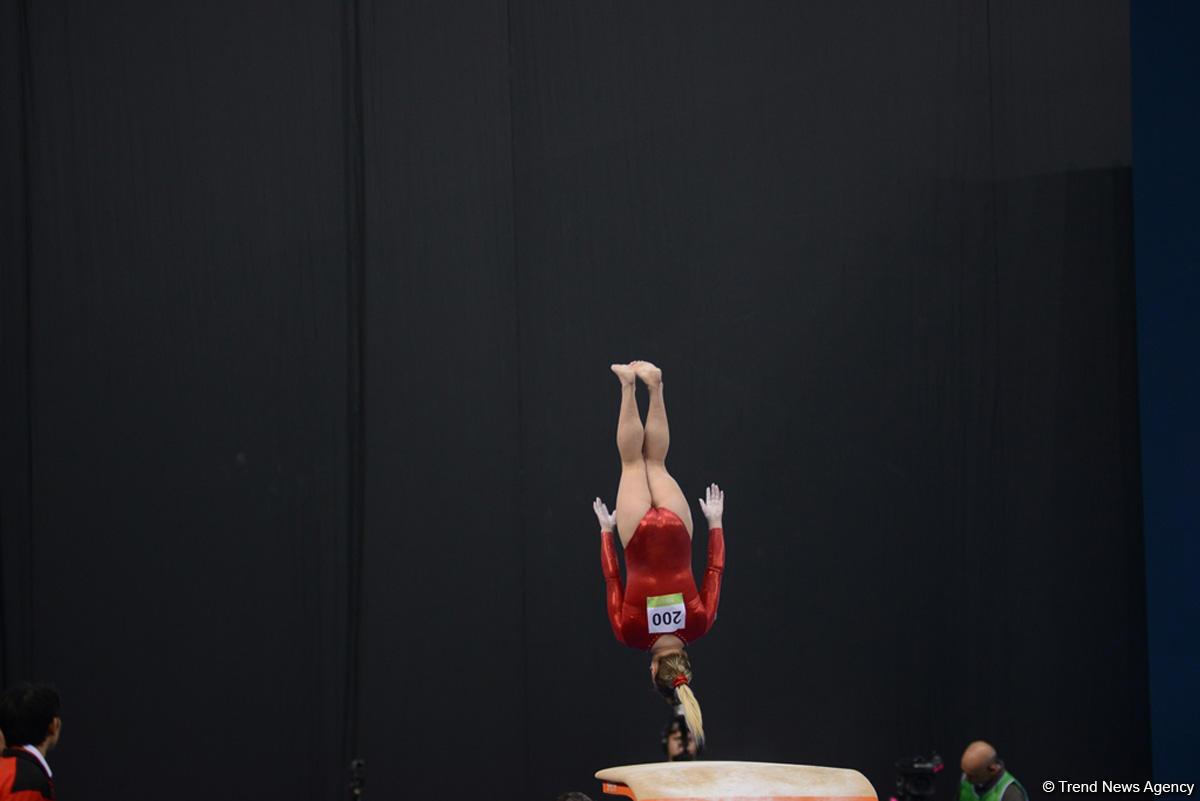 В рамках IV Игр исламской солидарности в Баку стартовали финалы по спортивной гимнастике  (ФОТО) - Gallery Image