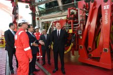 Ilham Aliyev attends opening of drilling rig named after Heydar Aliyev (PHOTO) - Gallery Thumbnail