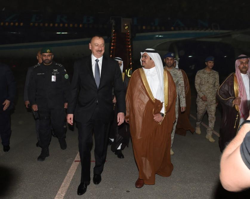 Prezident İlham Əliyev Səudiyyə Ərəbistanına səfərə gəlib (FOTO) - Gallery Image