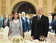 Ilham Aliyev, his spouse attend official reception on occasion of Republic Day (PHOTO) - Gallery Thumbnail