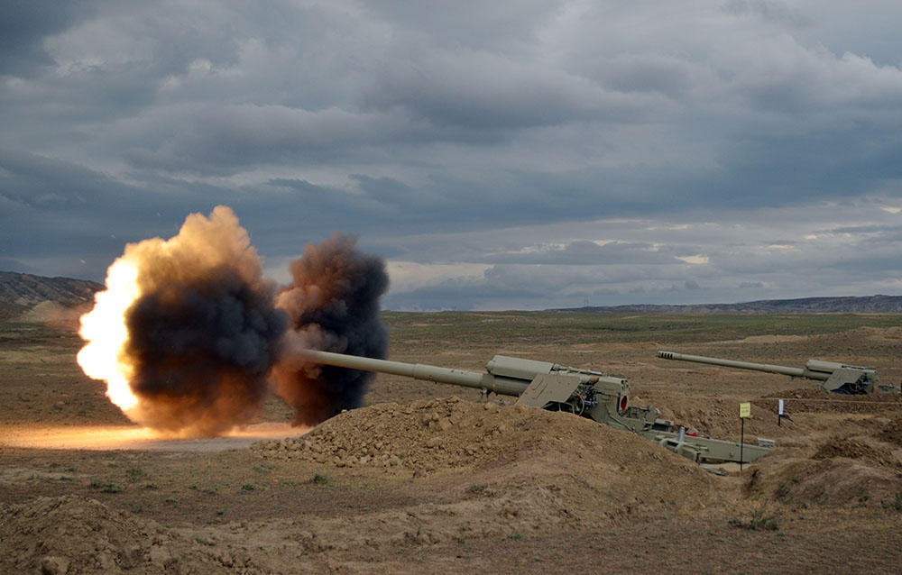 Rocket, artillery units of Azerbaijani army hold live-fire drills (PHOTO, VIDEO) - Gallery Image