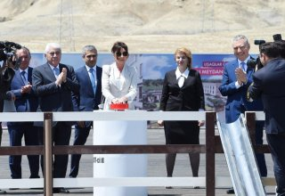 Mehriban Aliyeva attends groundbreaking ceremony of residential complex for IDP families (PHOTO)