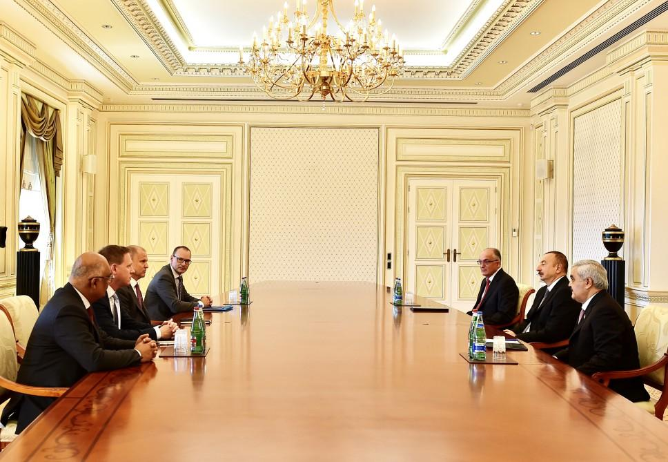 Ilham Aliyev meets delegation led by Statoil executive vice-president