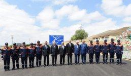 Президент Ильхам Алиев принял участие в открытии сельской дороги в Джоджуг Мерджанлы (ФОТО) - Gallery Thumbnail