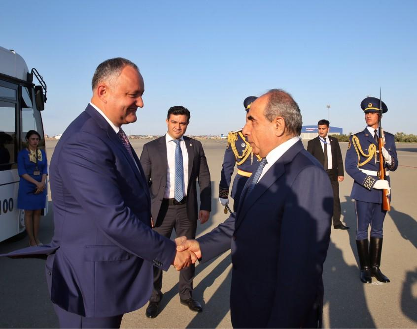 President of Moldova arrives in Azerbaijan for official visit - Gallery Image