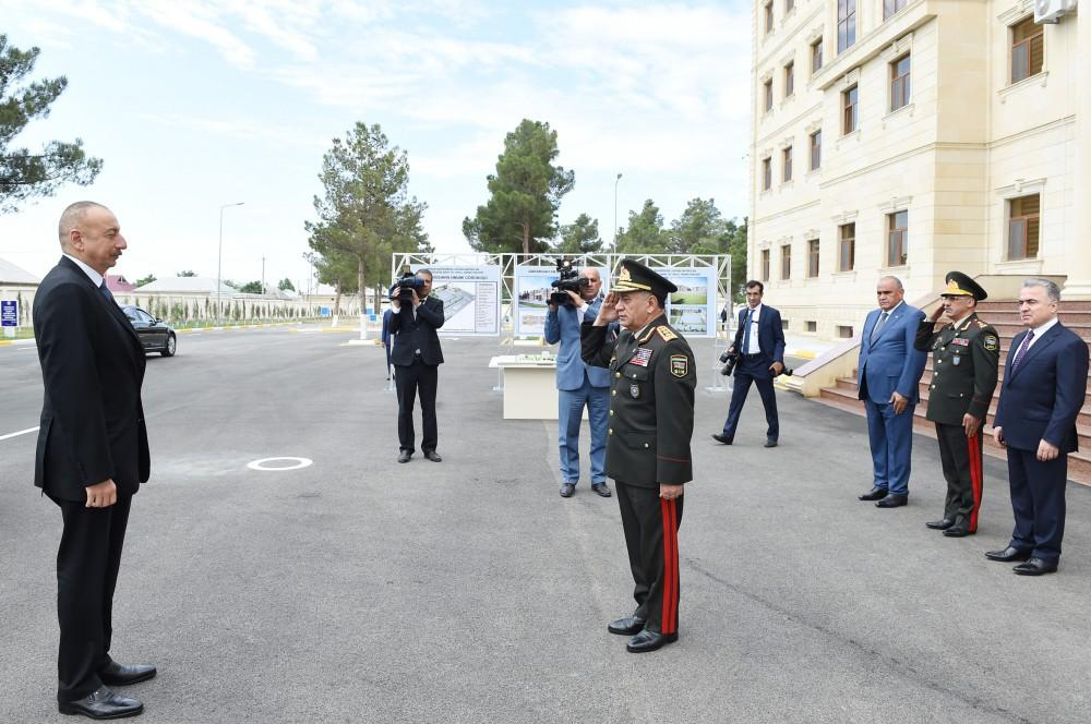 Ilham Aliyev opens Internal Troops' military unit in Shirvan (PHOTO)