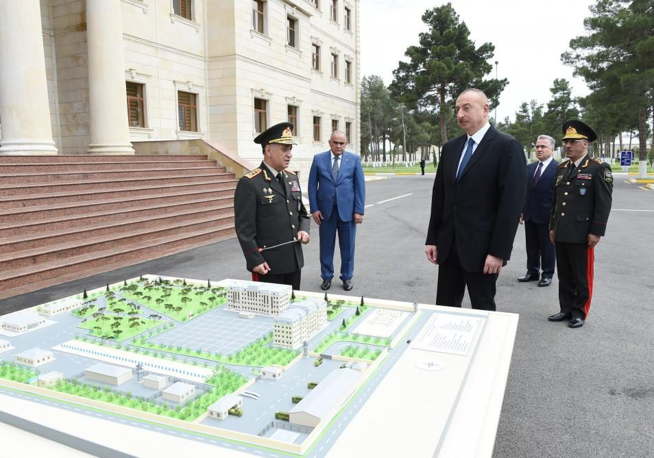 Ilham Aliyev opens Internal Troops' military unit in Shirvan (PHOTO) - Gallery Image