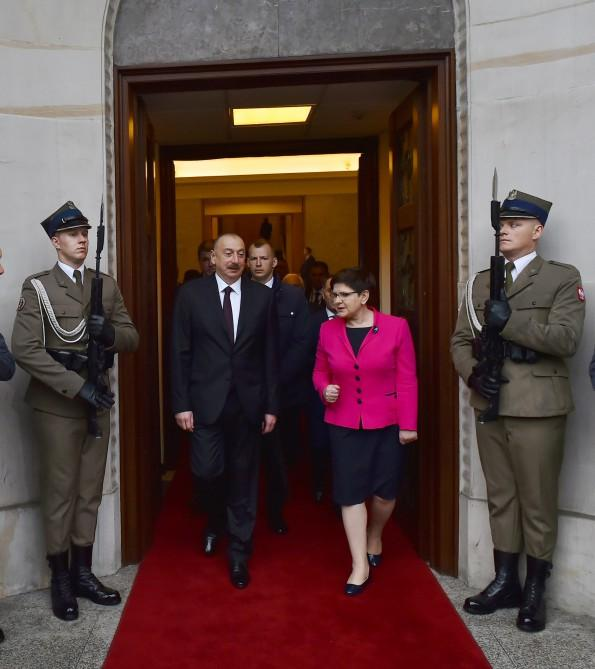Ilham Aliyev meets Polish PM in Warsaw (PHOTO, UPDATE) - Gallery Image