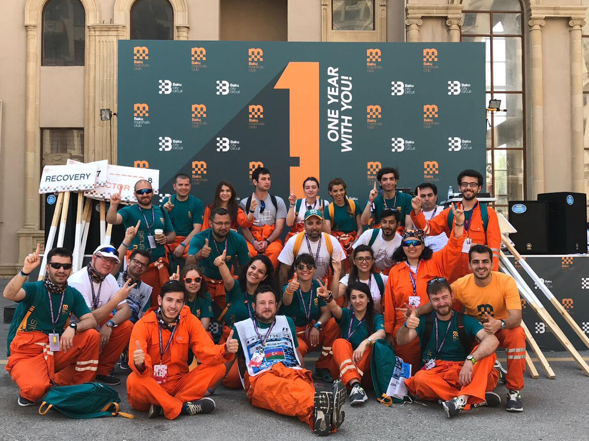 PwC Azerbaijan's F 1 Marshals Team participate in Azerbaijan Grand Prix (PHOTO) - Gallery Image
