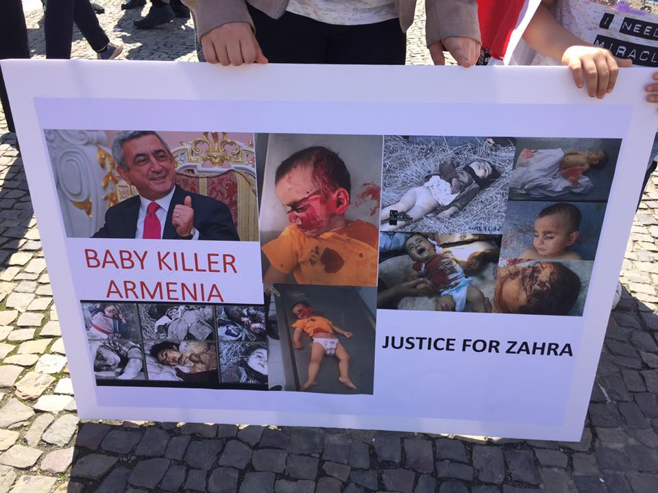 Azerbaijanis hold protest rally in Berlin (PHOTO) - Gallery Image